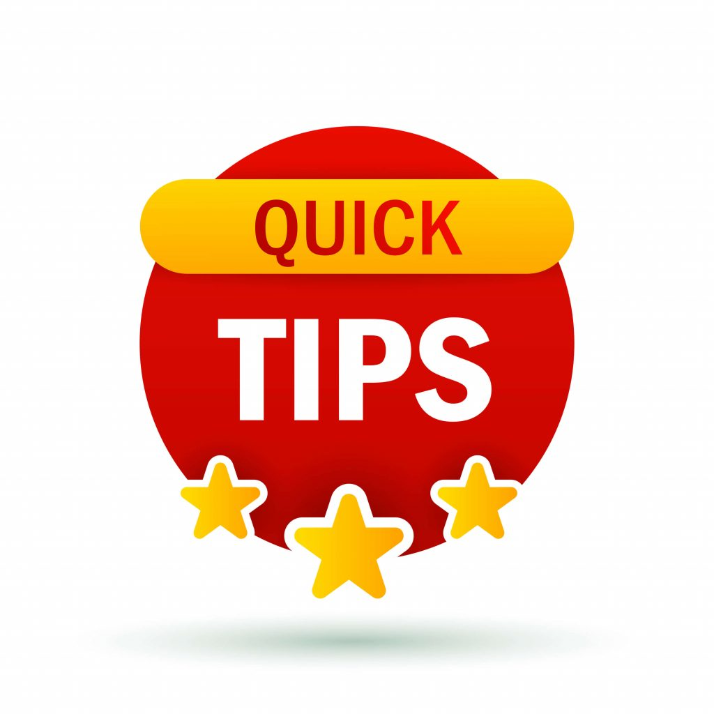 Quick Tips graphic