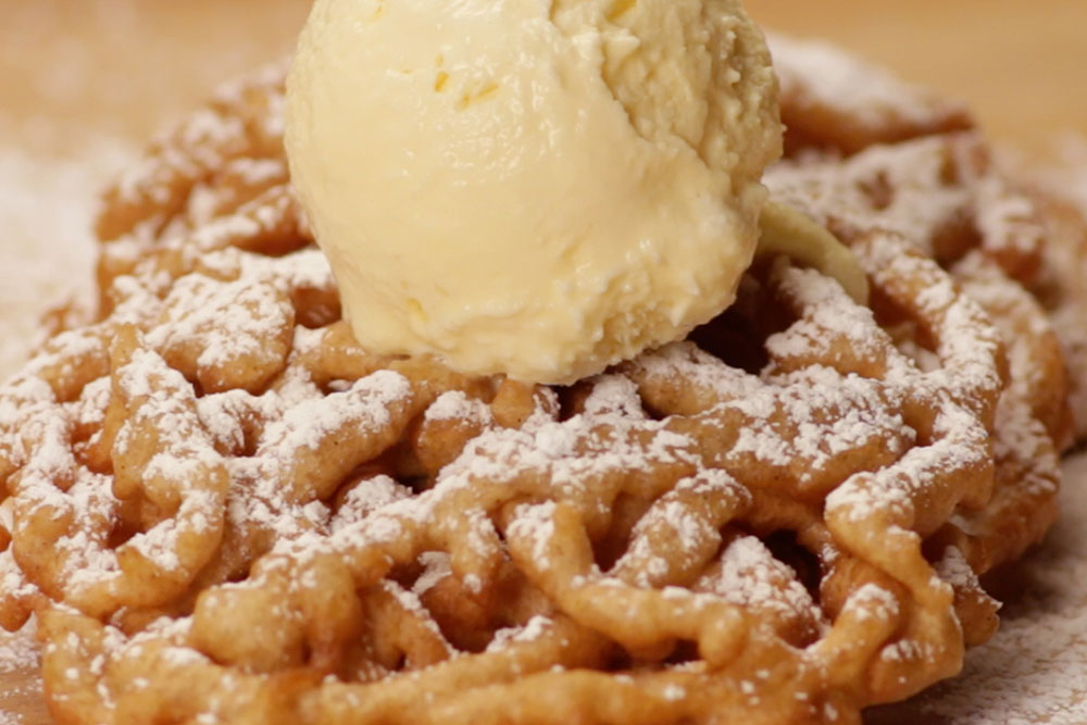 Funnel Cake with Topping